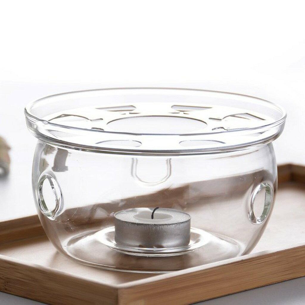 圓型 花茶壺保溫底座~送蠟燭一個~水果茶玻璃加熱座 保溫盤 蠟燭保溫爐座 咖啡器具 咖啡壺