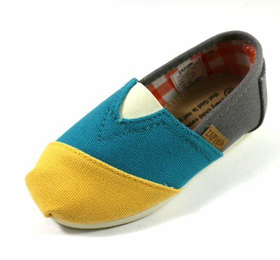 [陽光樂活]ZAPI西班牙防潑水休閒懶人鞋防滑橡膠鞋底-KD423217黃藍灰