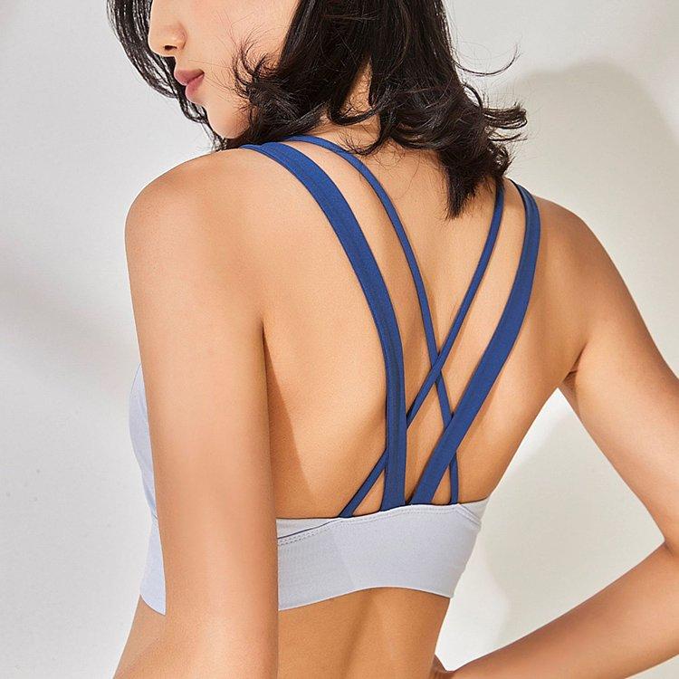 中度支撐U型領口V型交叉肩帶 運動內衣 2