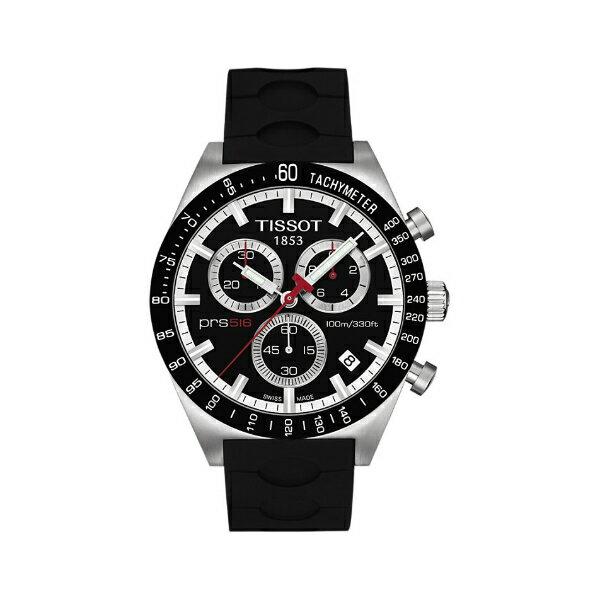 TISSOT天梭T0444172705100賽車PRS516膠帶計時腕錶/黑面42mm