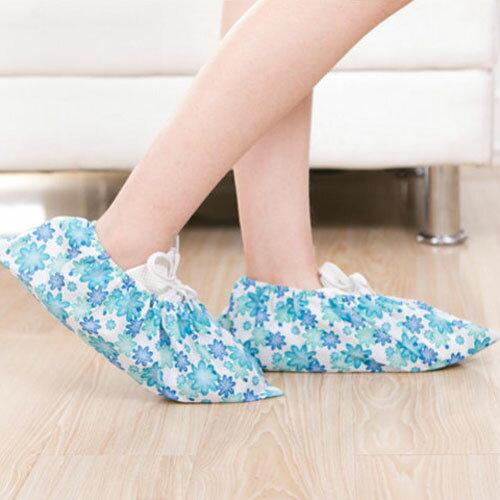 創意加厚印花無紡布鞋套透氣防滑家用可反覆清洗鞋套
