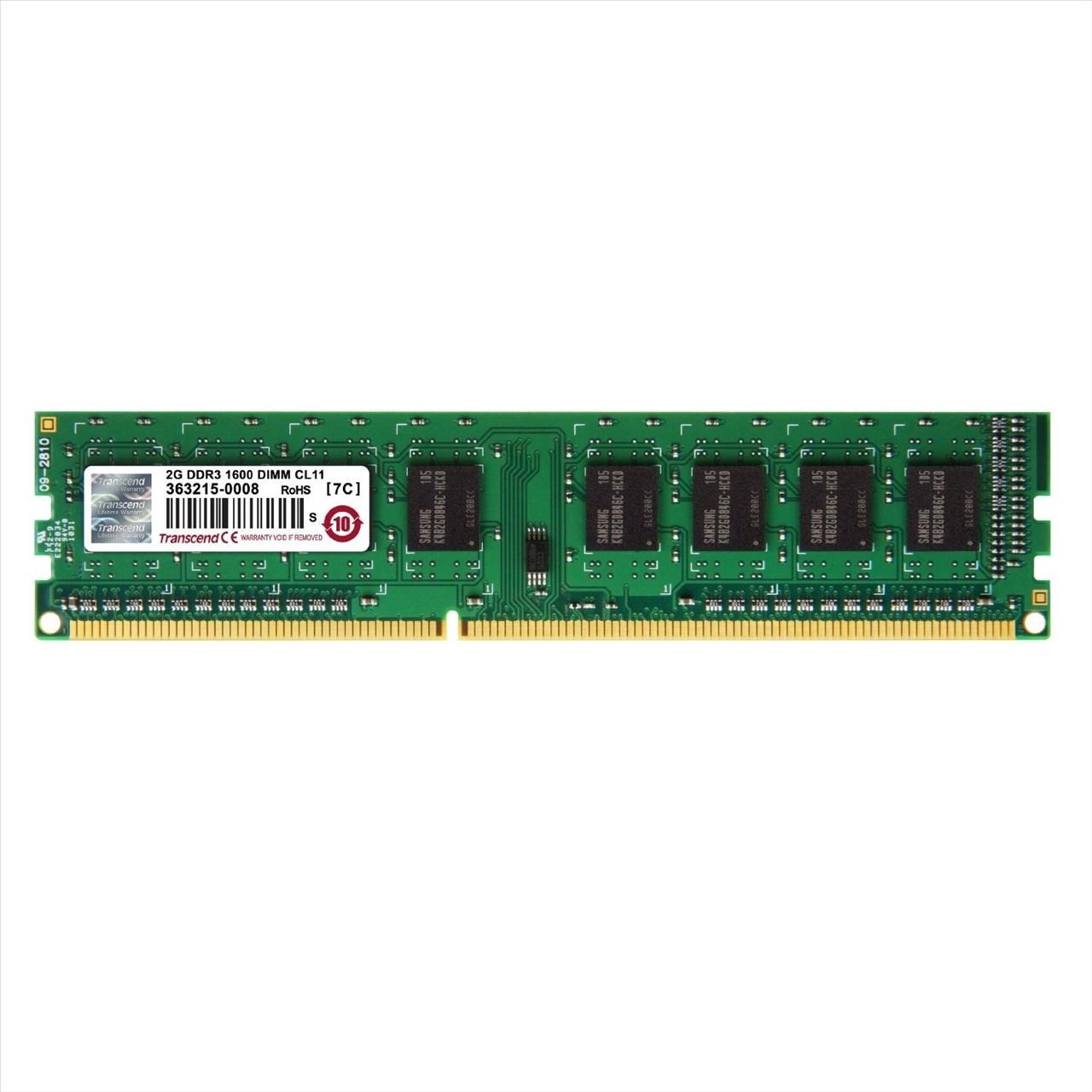 【新風尚潮流】創見桌上型 2G DDR3-1600 終身保固 公司貨 TS256MLK64V6N