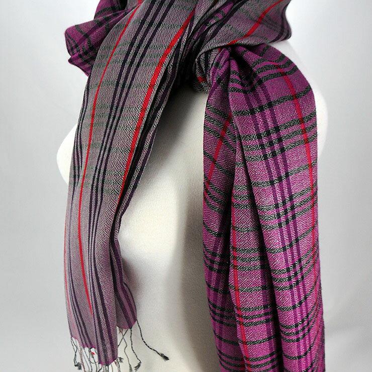 喀什米爾Pashmina圍巾-典雅方格-共4色