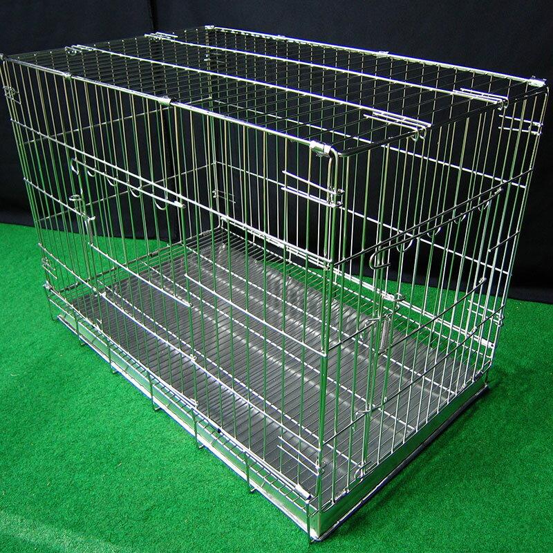 寵物屋 兔窩 寵物狗籠 圍欄 尿盤 底網 ♞空間特工♞  2.5尺折疊式兔籠 不銹鋼白鐵線籠 不鏽鋼摺疊兩尺半