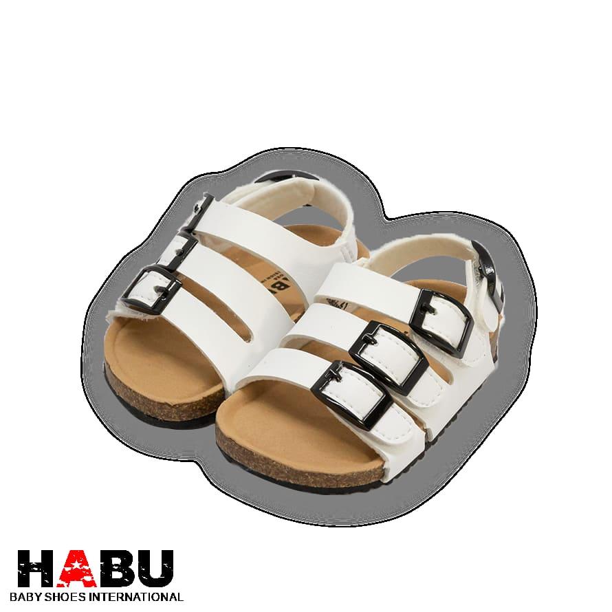 HABU哈布童鞋 白色經典勃肯涼鞋RR134-WH 1