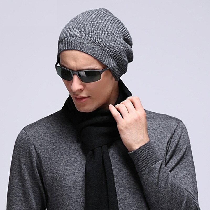 毛帽羊毛針織帽-純色休閒保暖護耳男帽子3色73wj51【獨家進口】【米蘭精品】 2