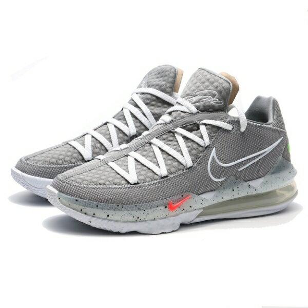 NIKE 籃球鞋 LEBRON 17 LOW PARTICLE GREY 灰白 風車 姆斯 詹皇 XVII 低筒 男 (布魯克林) CD5006-004