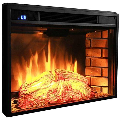 "AKDY 28"" AK-EF05-28R Black Electric Firebox Fireplace Heater Insert W/Remote 2"
