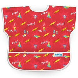 【淘氣寶寶】【美國Bumkins】兒童(1-3歲)短袖防水圍兜-小超人 BKU-400【保證公司貨】