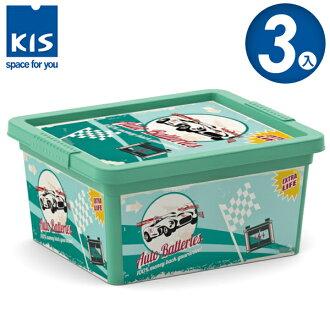 E&J【012001-02】義大利 KIS C BOX 復古車系列收納箱 XXS 3入;無印風/收納箱/收納盒/玩具收納