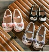 娃娃鞋 韓版毛球平底童鞋 寶寶公主鞋 (14-16cm) KL22618 好娃娃 0