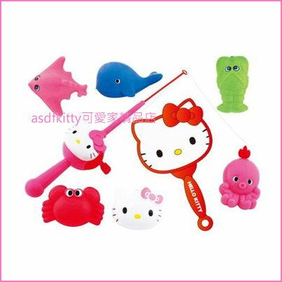 asdfkitty可愛家☆KITTY釣魚撈魚玩具組-日本正版商品