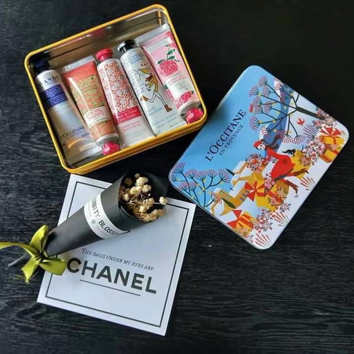 歐舒丹聖誕節護手霜五件組鐵盒裝
