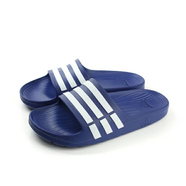 adidas 拖鞋 藍色 男女鞋 no393