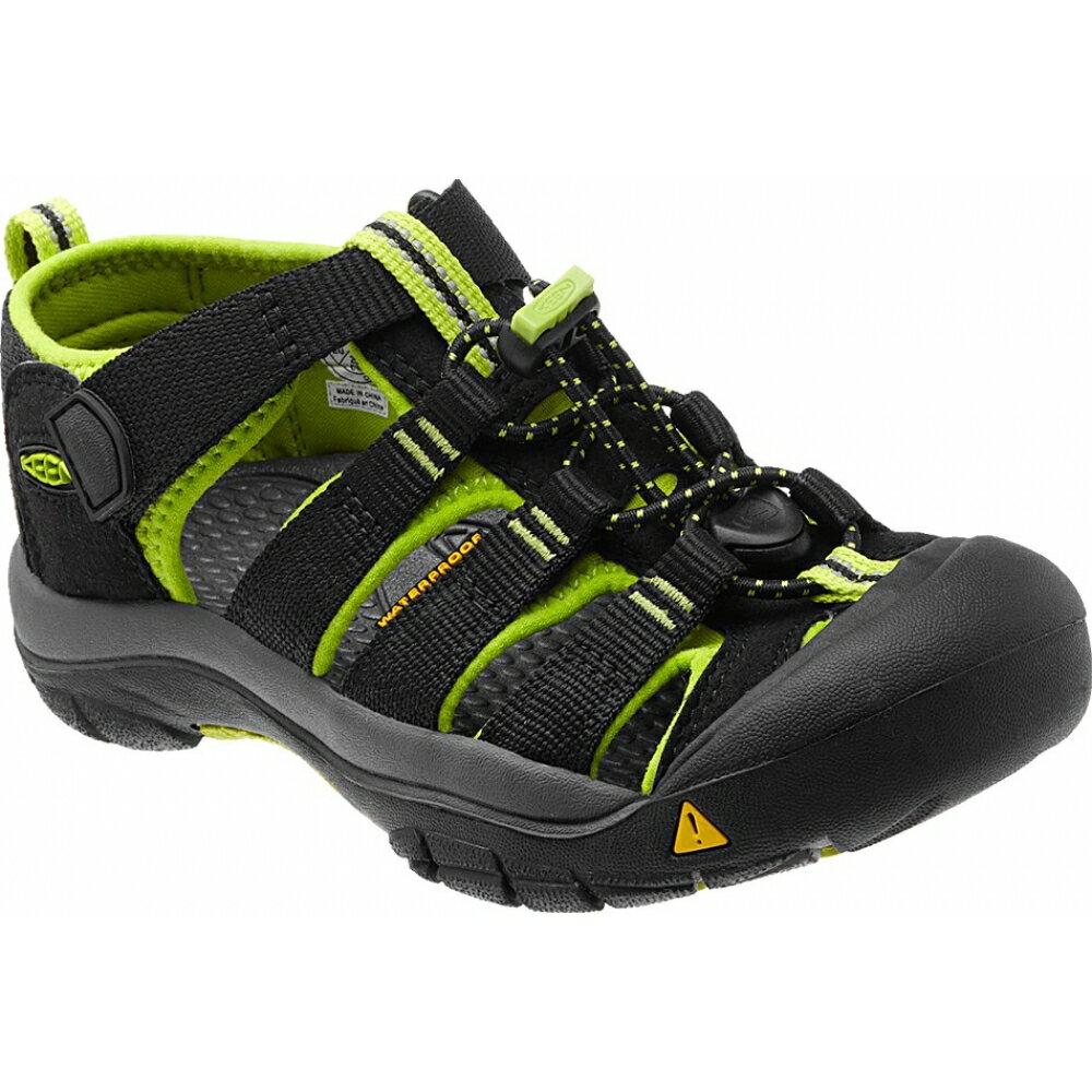 ├登山樂┤美國KEEN NewPort H2兒童護趾涼鞋 黑 / 螢光綠 #1009965 0