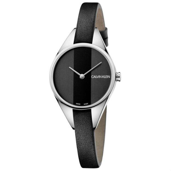 CK卡文克萊叛逆系列(K8P231C1)小巧個性時尚腕錶黑面29mm