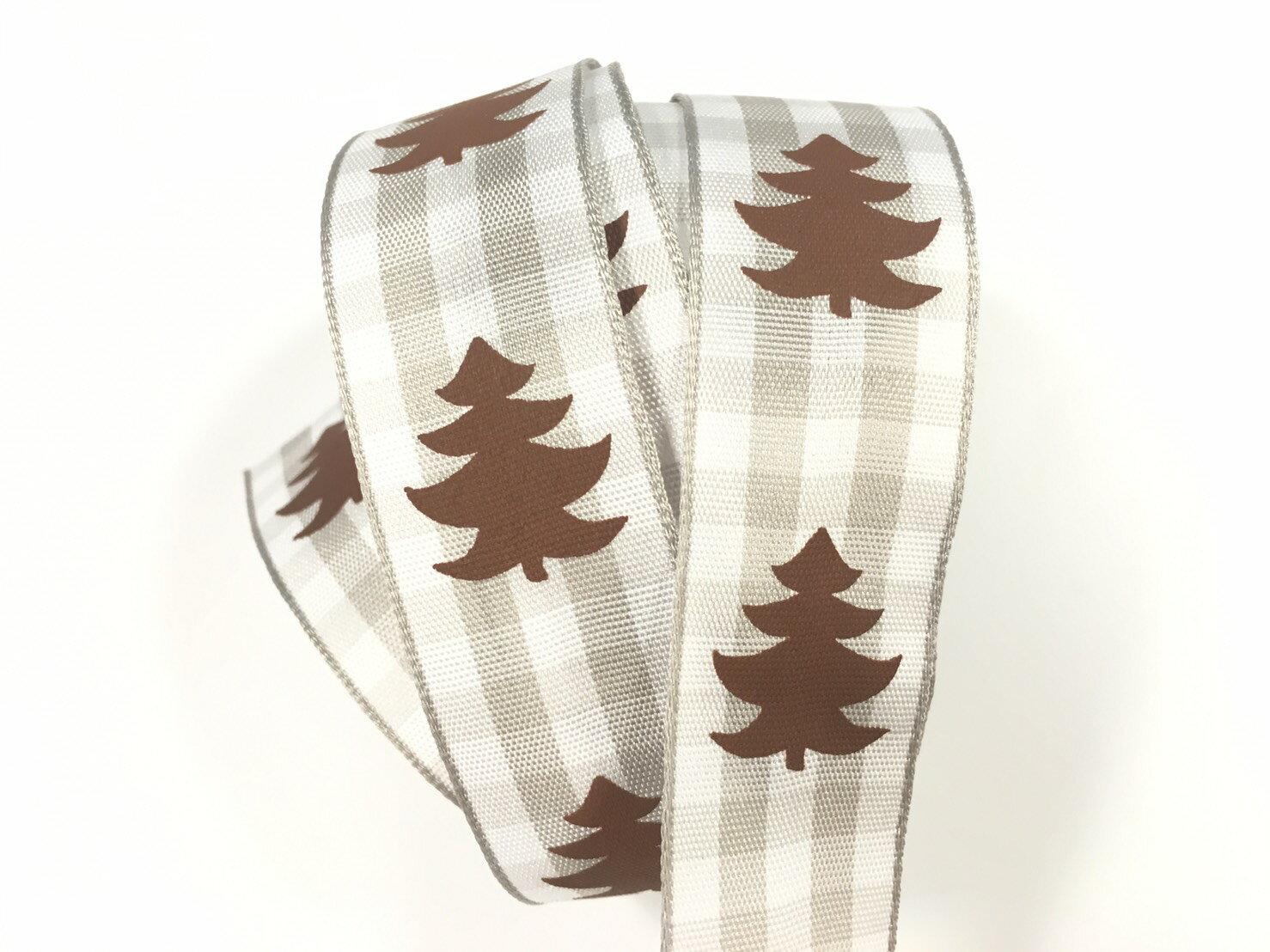 聖誕樹 格紋緞帶 2款 (2色) 1
