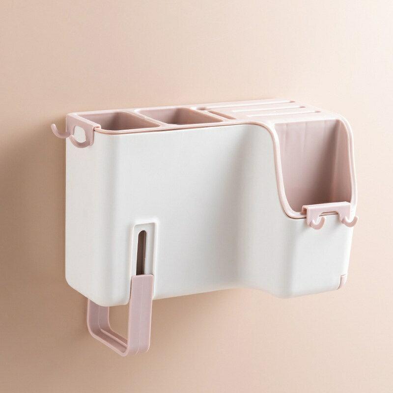 多功能壁掛式筷子籠創意瀝水筷子筒家用餐具刀具勺子收納盒刀架 5