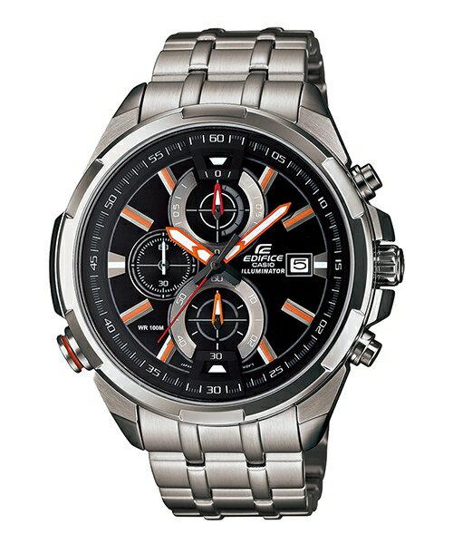 CASIO EDIFICE EFR-536D-1A4 LED霓虹賽車腕錶/黑面48mm