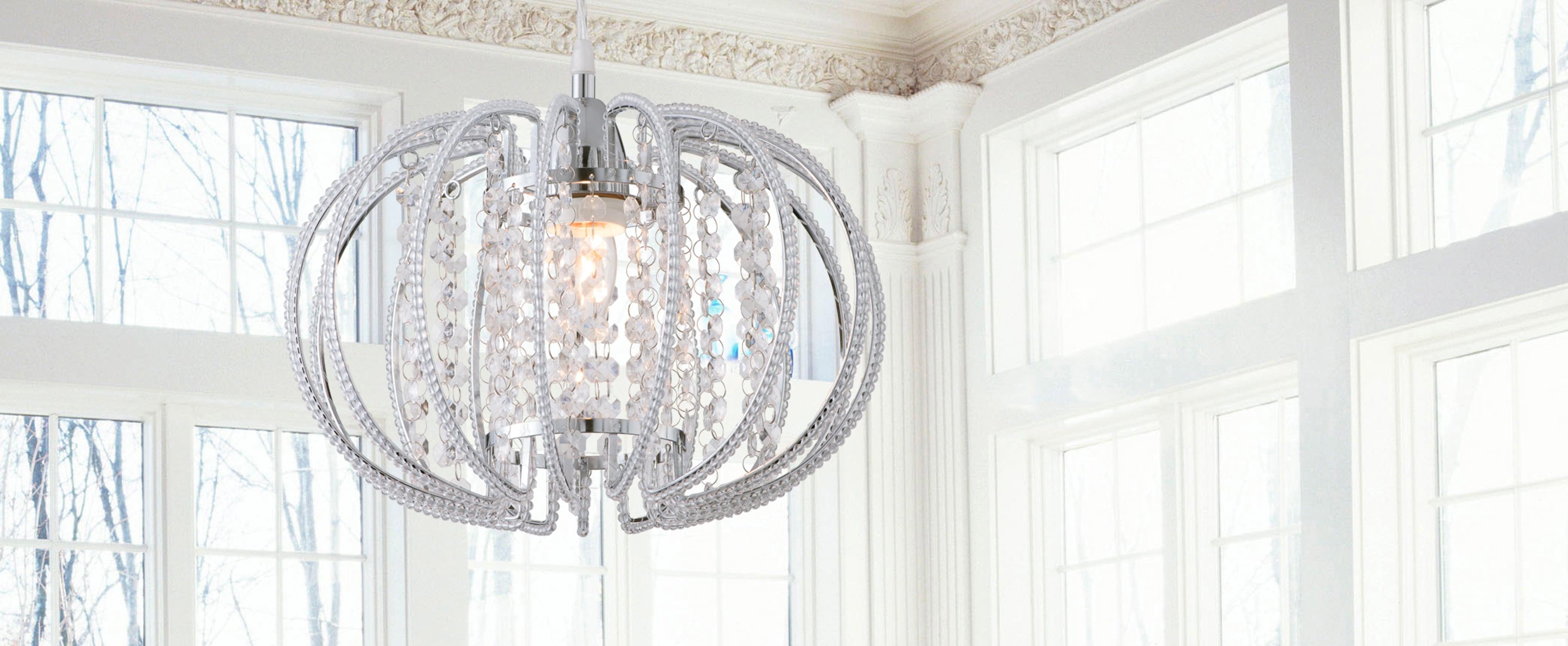 鍍鉻圓形透明壓克力珠吊燈-BNL00046 6