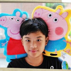 美麗大街【104082519】12吋PeppaPig佩佩豬造型抱枕 午安枕 娃娃(不挑款)