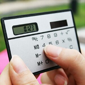 美麗大街【BF520E19】8位卡片式太陽能計算機