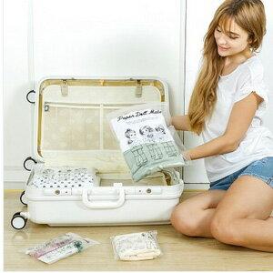 美麗大街~BF151E01~SAFEBET 韓國可愛娃娃透明防水旅行衣物收納袋衣物鞋子整理