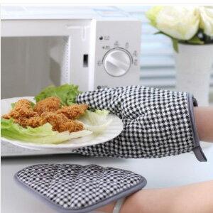 美麗大街【BF497E1E888】加厚微波爐烤箱烘焙防燙隔熱墊手套兩件套