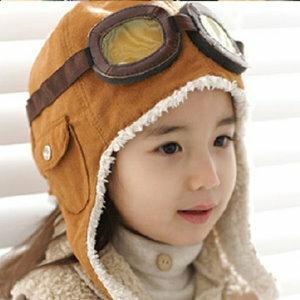 ** 美麗大街 **【BF14B968】超人氣飛行帽造型兒童護耳帽