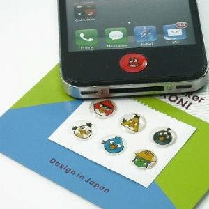 衫皇衫家【IP109】iPHONE 手機可愛卡通印花按鈕按鍵貼紙