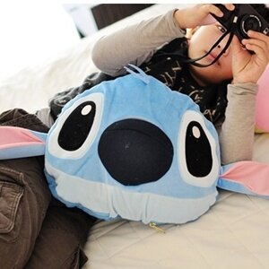 美麗大街【S101030620】史迪奇造型涼被 被子 抱枕 枕頭 靠枕