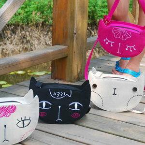 美麗大街【BFA57E5E21】貝蒂貓咪斜背包