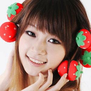 美麗大街【BFK09E1E2】美髮必備DIY草莓海綿髮捲 捲髮球