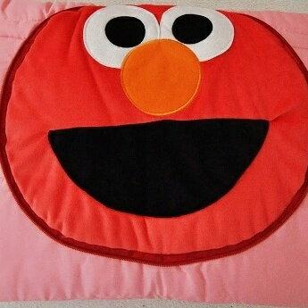 美麗大街【S101061109】 芝麻街ELMO造型涼被 抱枕 枕頭 被子