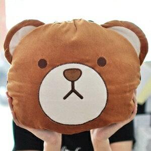 美麗大街【S101081518】熊大造型涼被 被子 抱枕 枕頭 靠枕