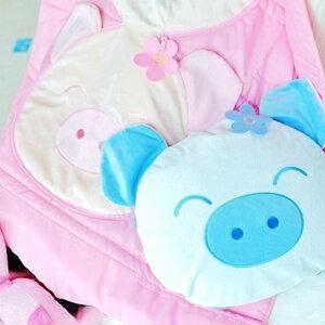 美麗大街【S101100201】可愛小豬抱枕涼被被子