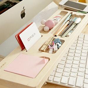 美麗大街【BF535E21E830】木製多功能桌面鍵盤置物架