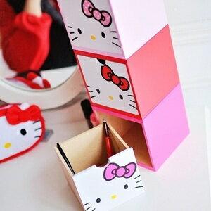 美麗大街【S102011412】Hello Kitty大臉方形置物盒