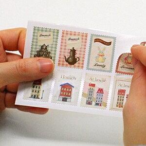 美麗大街【BF550779】第一季草本標 語郵票式貼紙(2張入)