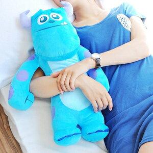 美麗大街【10208021】12吋怪獸電力公司藍色毛怪站姿長型造型抱枕