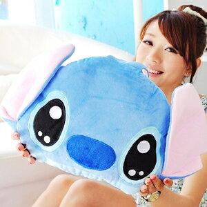 美麗大街【10208199】12吋迪士尼 史迪奇小款大頭造型抱枕