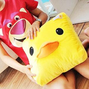 美麗大街【102091710】黃色小鴨方形大頭抱枕靠墊