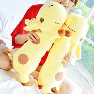 美麗大街【102092511】可愛長頸鹿12吋趴姿造型長型抱枕