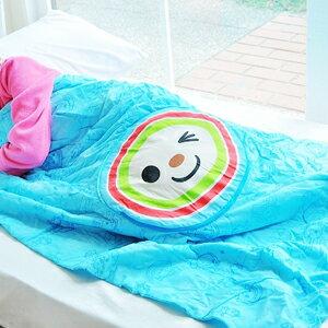 美麗大街【102102631】OPEN小將印花可收納涼被薄被枕頭抱枕