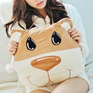 美麗大街【102112933】可愛動物系列可收納涼被薄被枕頭