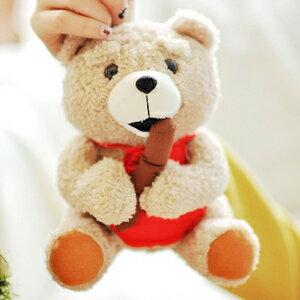 美麗大街【102121708】熊麻吉紅色圍兜款吸盤吊飾玩偶