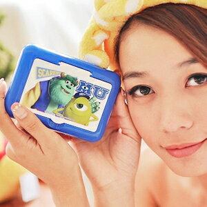 美麗大街【102122337】怪獸電力公司隨身面紙收納化妝鏡盒