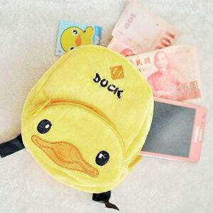 美麗大街【102122341】黃色小鴨迷你背包造型零錢萬用包