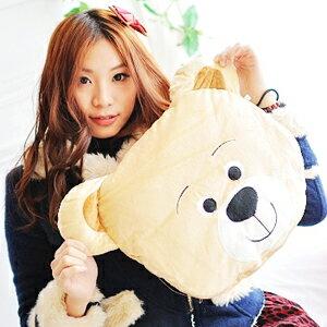 美麗大街【102122614】可愛小熊可收納涼被薄被枕頭抱枕