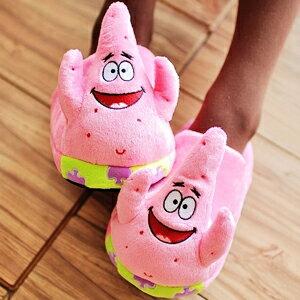 美麗大街【103010610】海綿寶寶派大星造型絨布室內拖鞋
